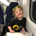 Little Eva on the train home from Balloch